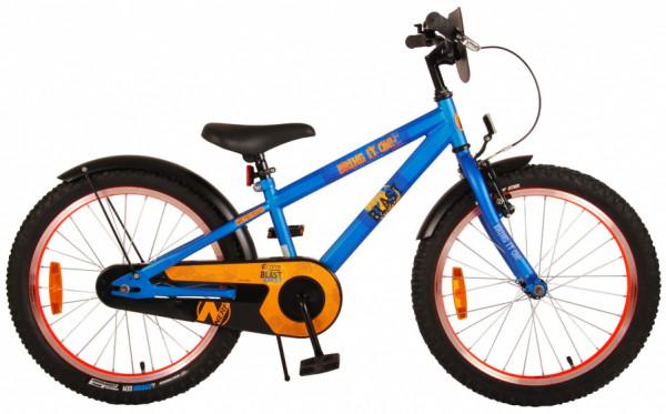 NERF Kinderfahrrad, 20 Zoll, 26,7 cm, Jungen, Rücktrittbremse, Blau/Orange