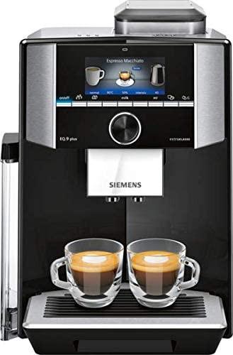 Siemens TI955F09DE Kaffeevollautomat EQ.9 plus s500 Schwarz, Edelstahl