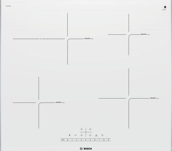 Bosch PIF672FB1E Kochfeld Induktion Facettenschliff 60 cm weiss