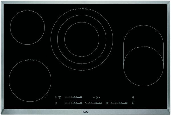 AEG HK854870XB Kochfeld Glaskeramik 80 cm Edelstahlrahmen